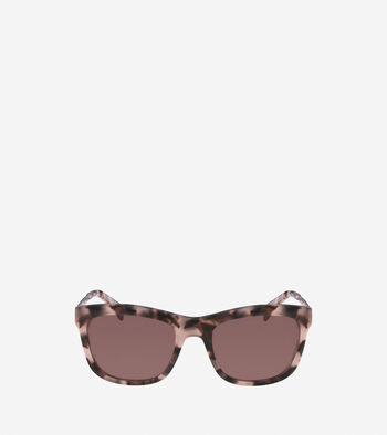 Acetate Metal Square Sunglasses