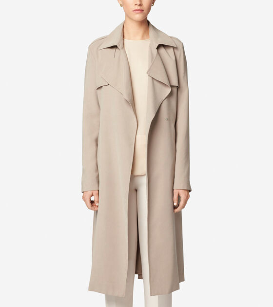 Outerwear > Belted Trench