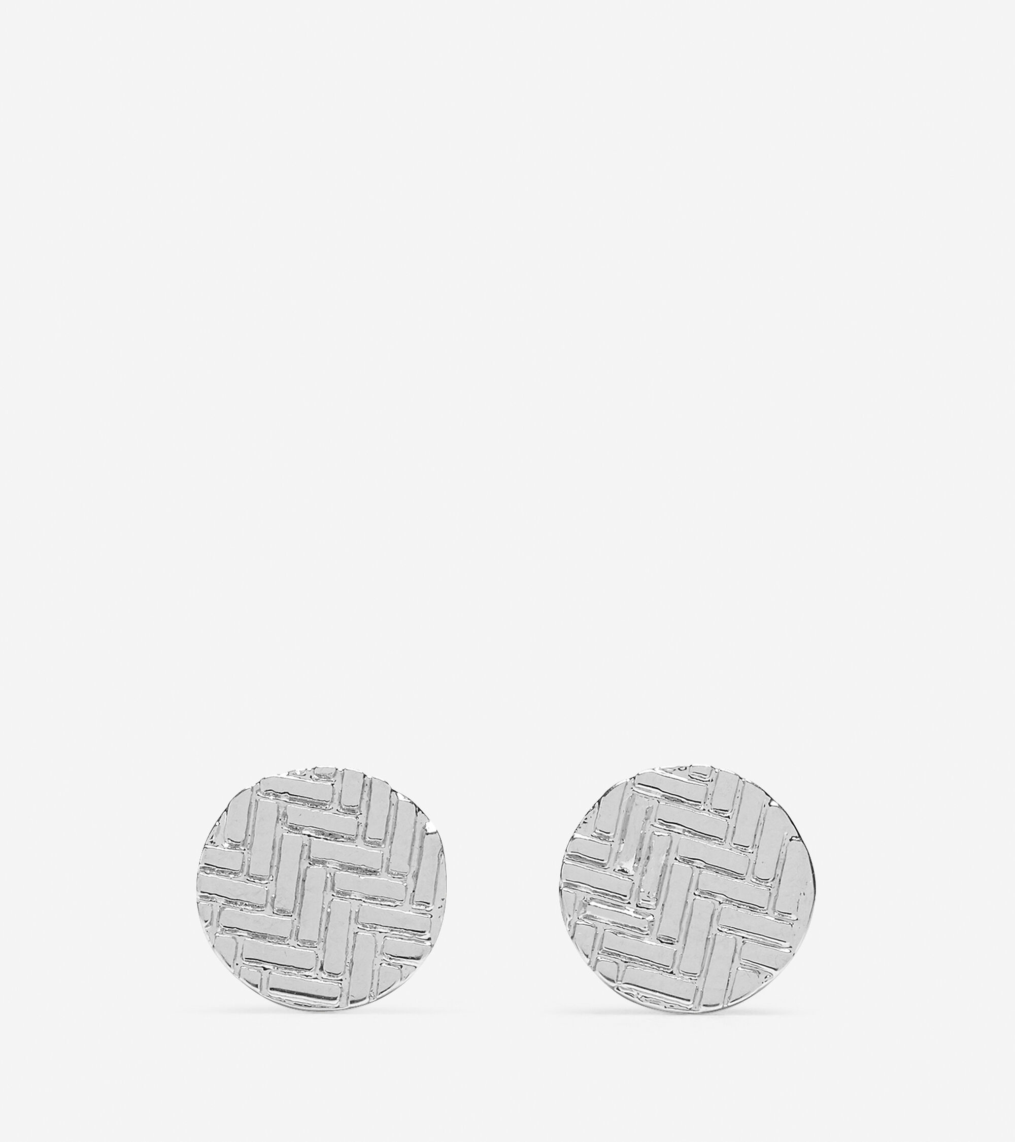 Accessories > Etched Basket Weave Stud Earring
