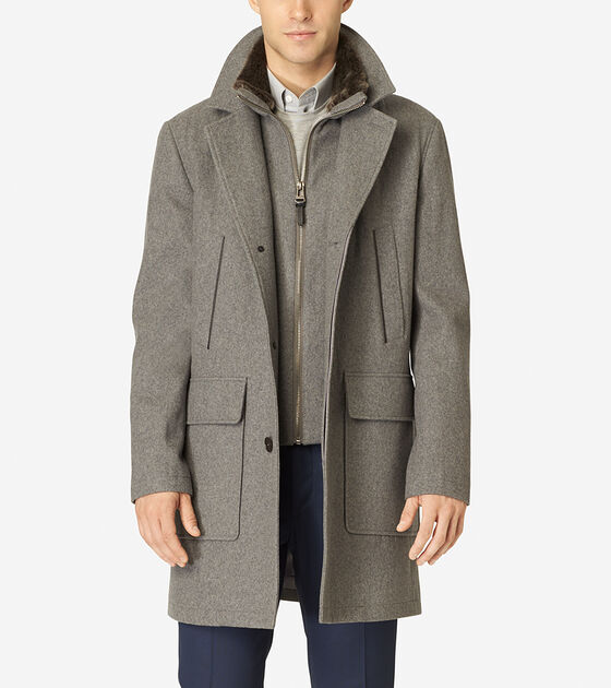 Outerwear > Melton Wool Topper