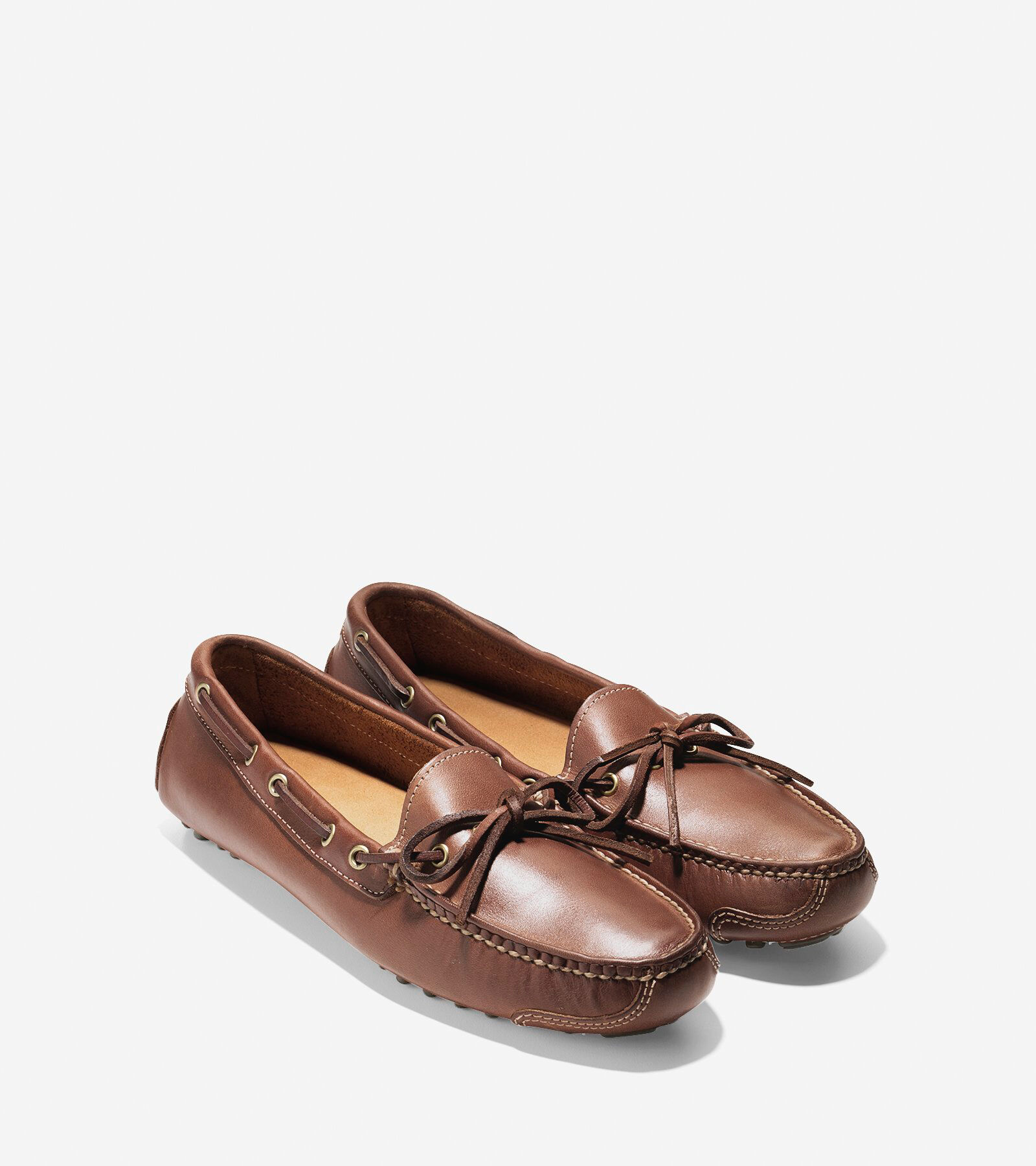 cole haan shoes gunnison brown wide fitting boots with fringes 7