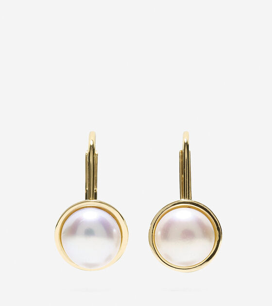 Bags & Outerwear > Tali Pearl Round Fresh Water Pearl Drop Earrings