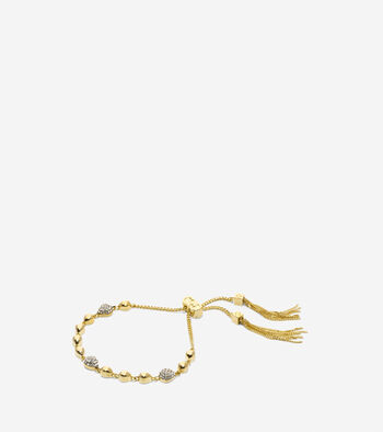 Waters Edge Swarovski Teardrop Pull Tie Bracelet