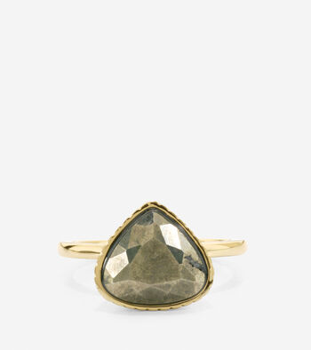 All A Fray Semi-Precious Pyrite Ring