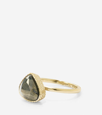 All A Fray Semi-Precious Pyrite Ring