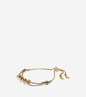 Put A Ring On It Statement Pull-Tie Bracelet