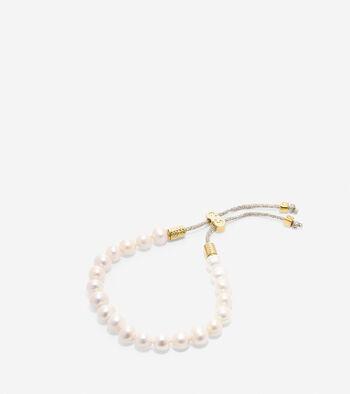 Tali Pearl Fresh Water Pearl Pull Tie Bracelet