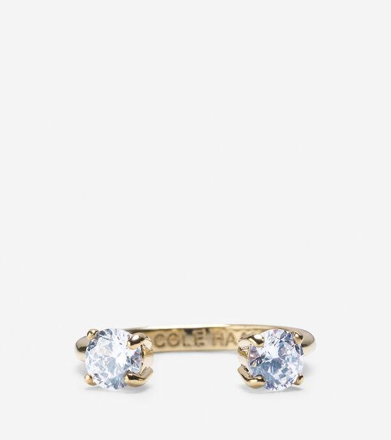 CZ Open Stone Ring