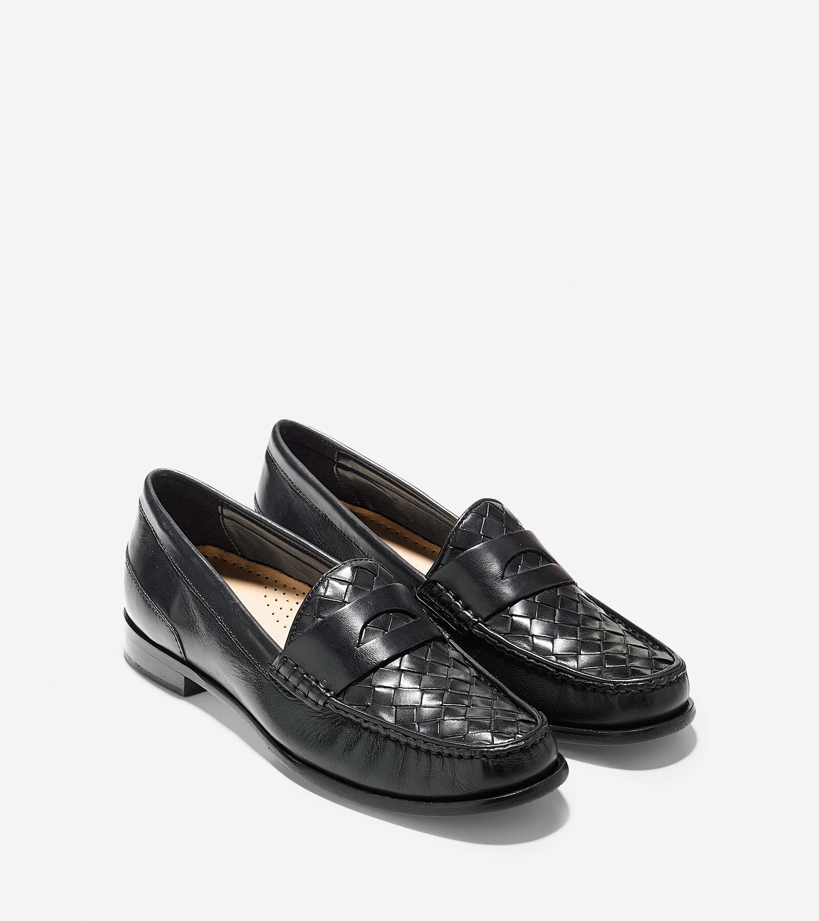 Womens Shoes Cole Haan Laurel Woven Moc Black