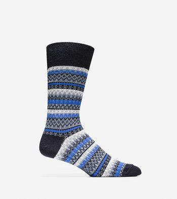 Fair Isle Crew Sock