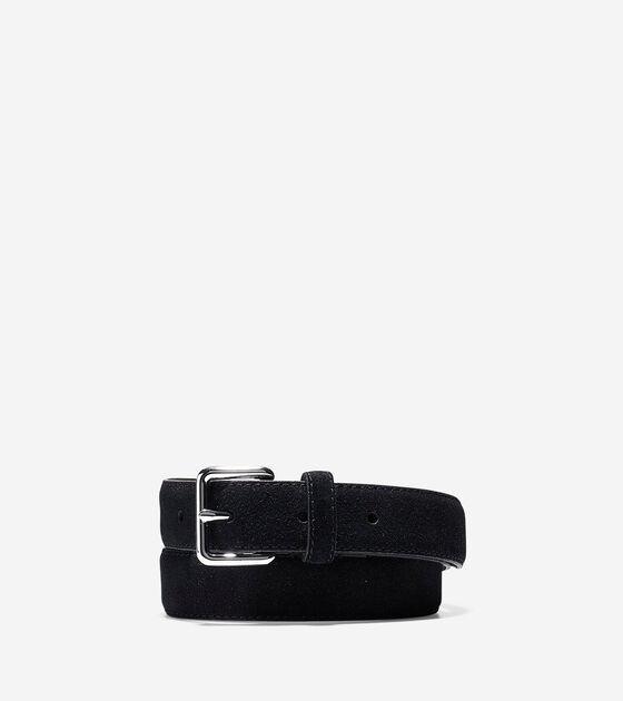 Bags & Outerwear > Flat Strap Suede Belt