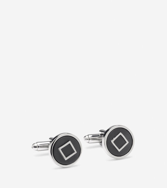 Diamond Logo Plaque Cuff Links