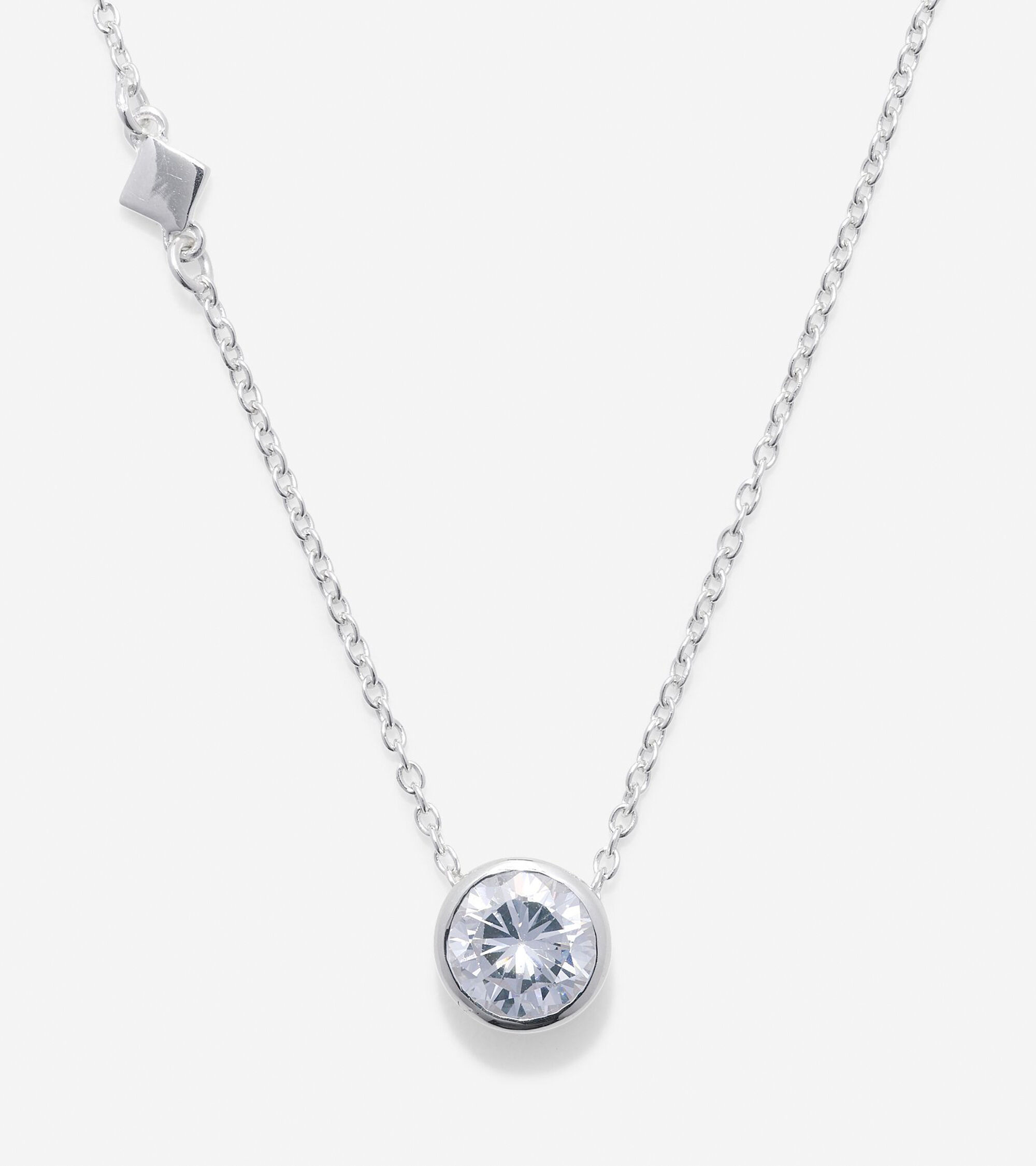 Jewelry > Sterling Silver Round CZ Necklace