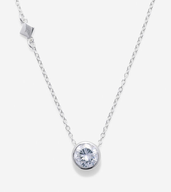 Accessories > Sterling Silver Round CZ Necklace
