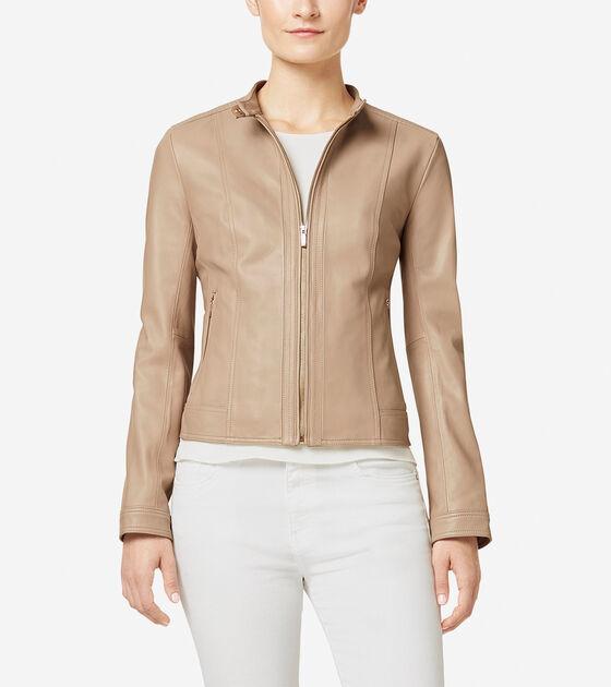 Outerwear > Italian Leather Modern Racer Jacket