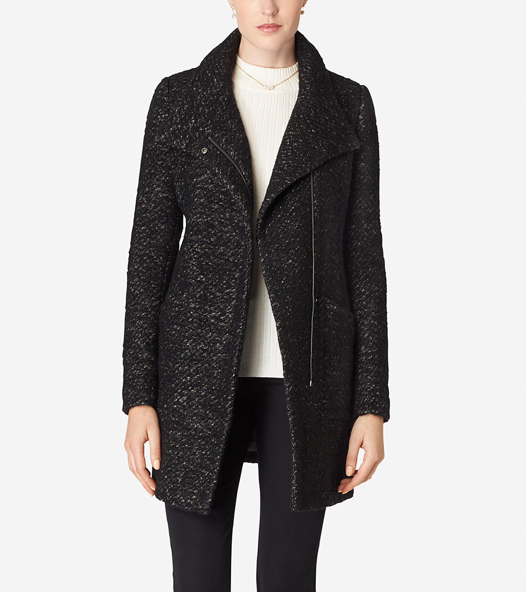Outerwear > Italian Wool Stand Collar Coat