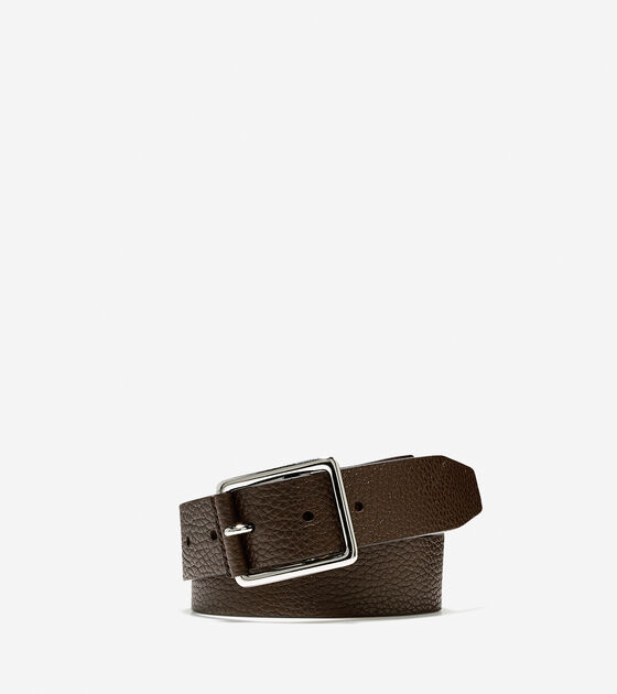Accessories & Outerwear > 35mm Pebble Leather Belt