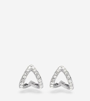 Love Triangle Swarovski Triangle Earrings