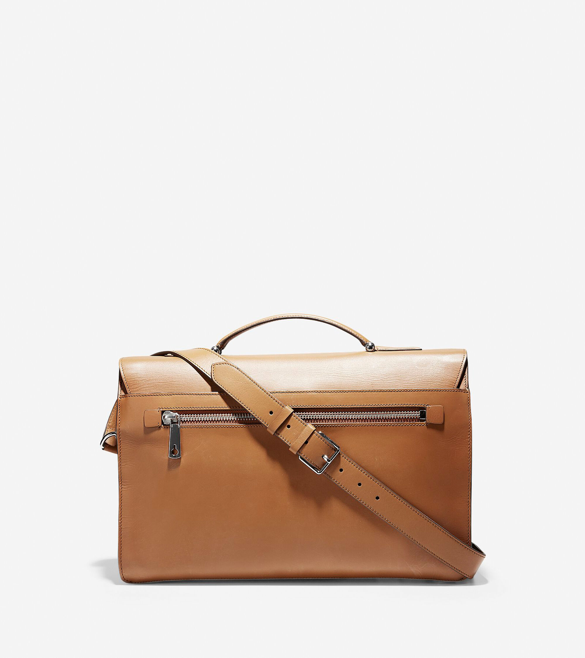 Men\'s Washington Grand Double Gusset Briefcase in Luggage | Cole Haan