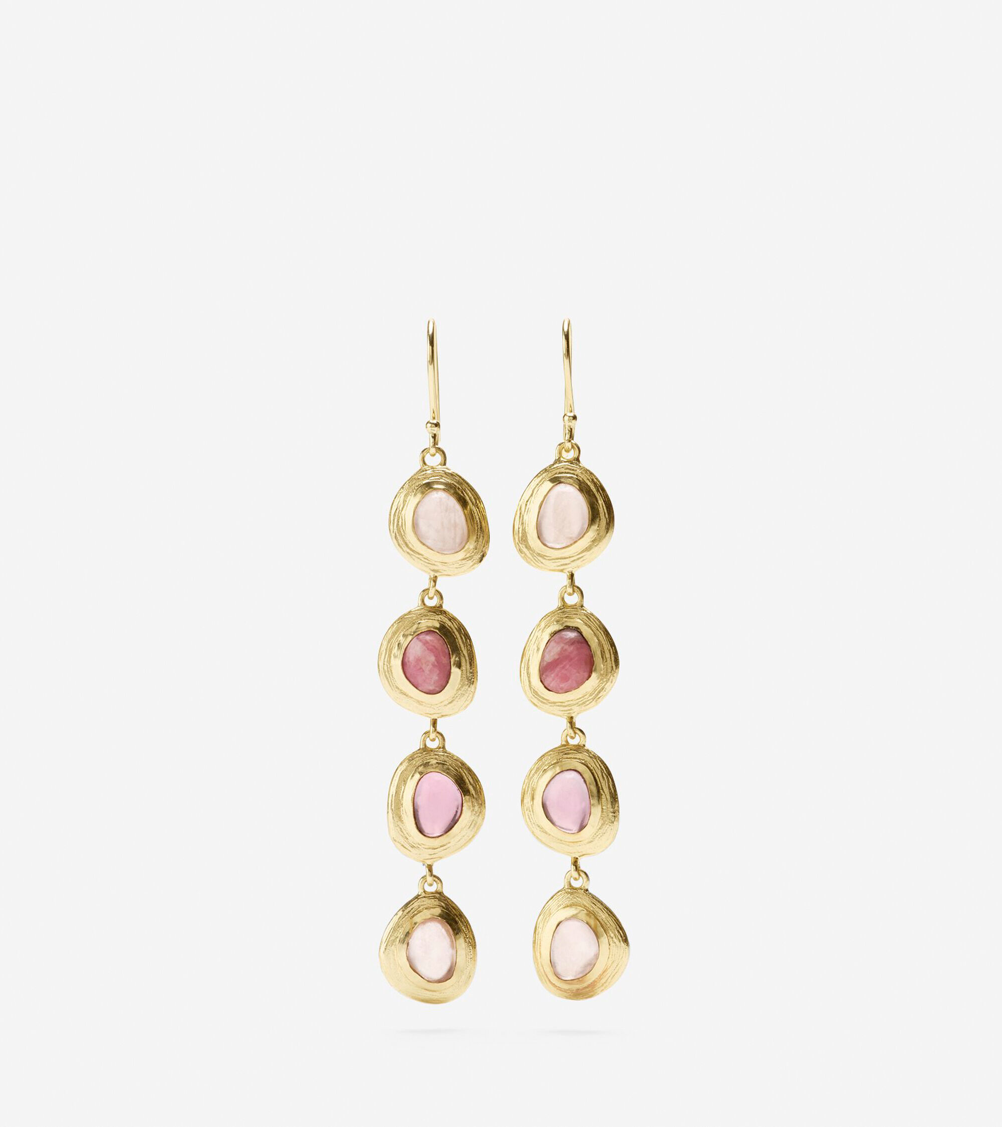 Accessories > Linear Semi-Precious Drop Earring