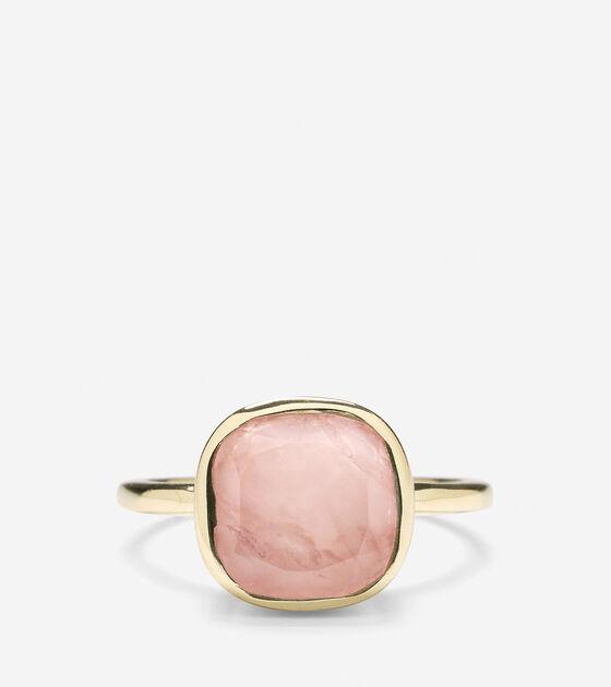 Cushion Cut Semi-Precious Ring
