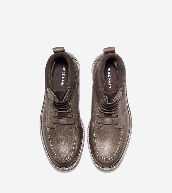 Keaton Waterproof Moc Toe Lace Boot