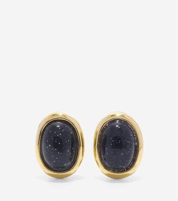 Adair Oval Stone Stud Earrings