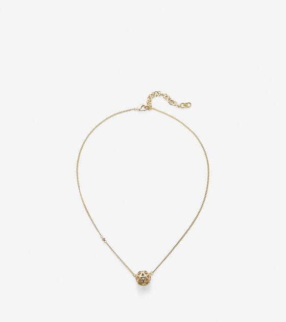Tali Pearl Geometric Pendant Necklace