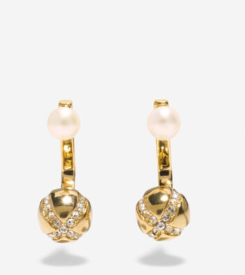 Set the Ball in Motion Fresh Water Pearl Front-Back Earrings