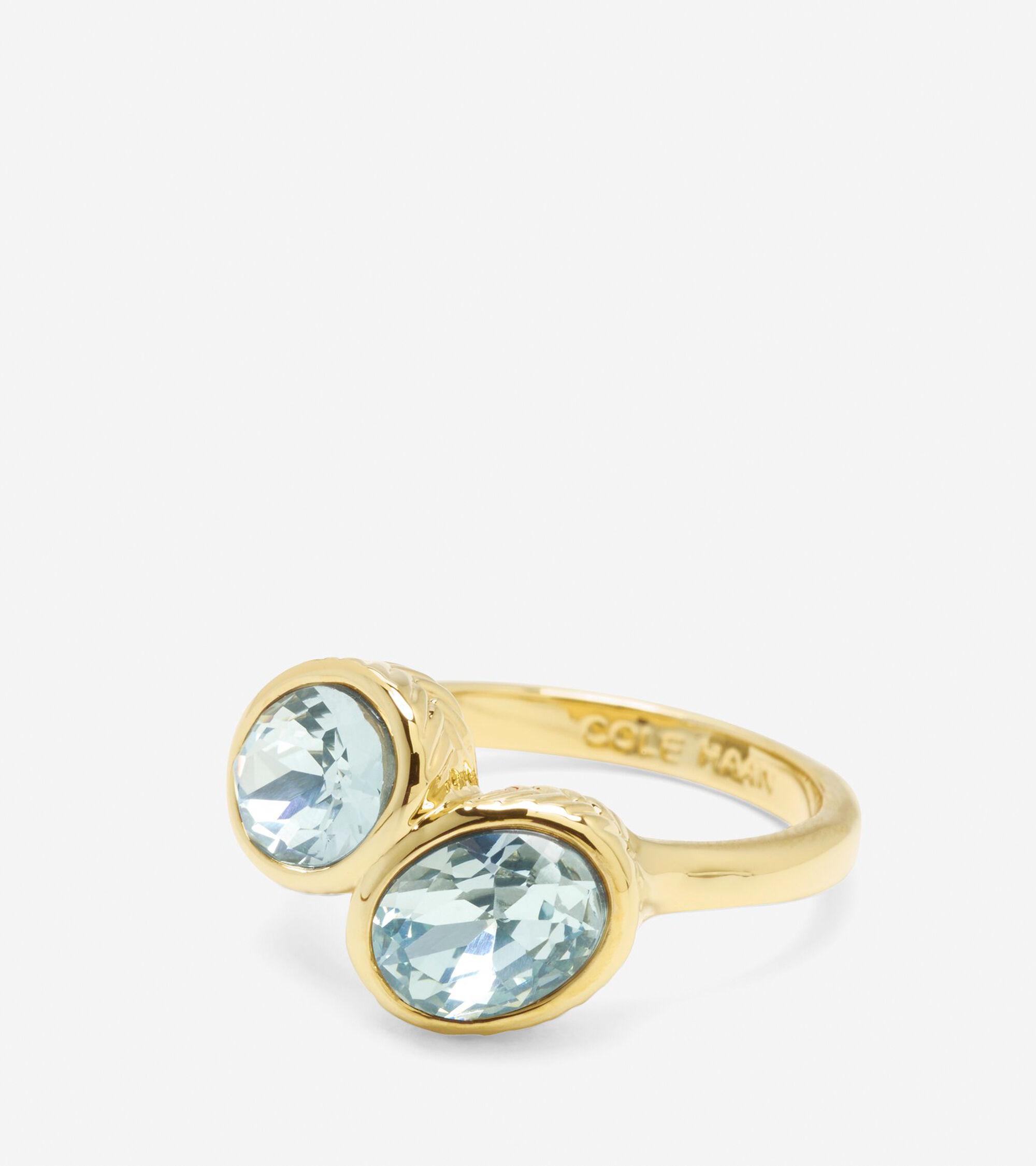 Accessories > Double Swarovski Stone Ring