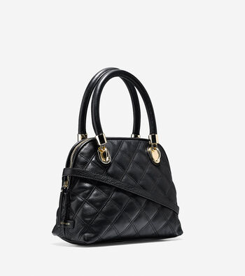 Benson Quilted Small Dome Satchel