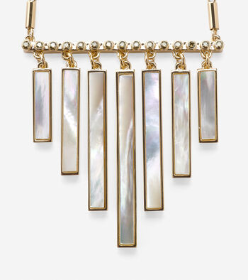 Tali Mother Of Pearl Frontal Fringe Necklace
