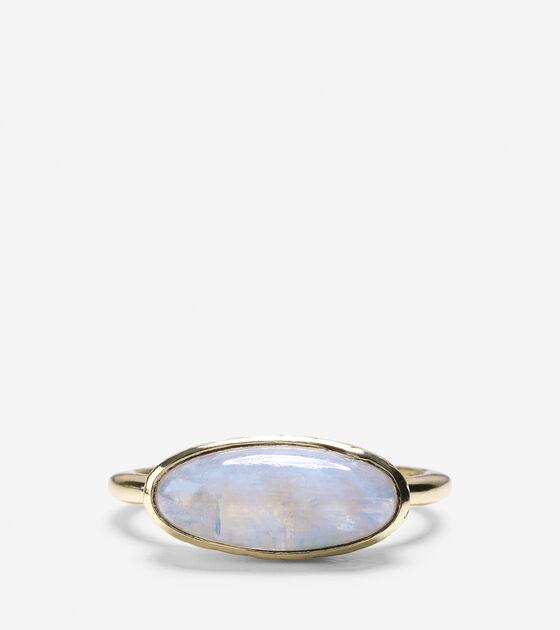Basket Weave Oval Semi-Precious Ring