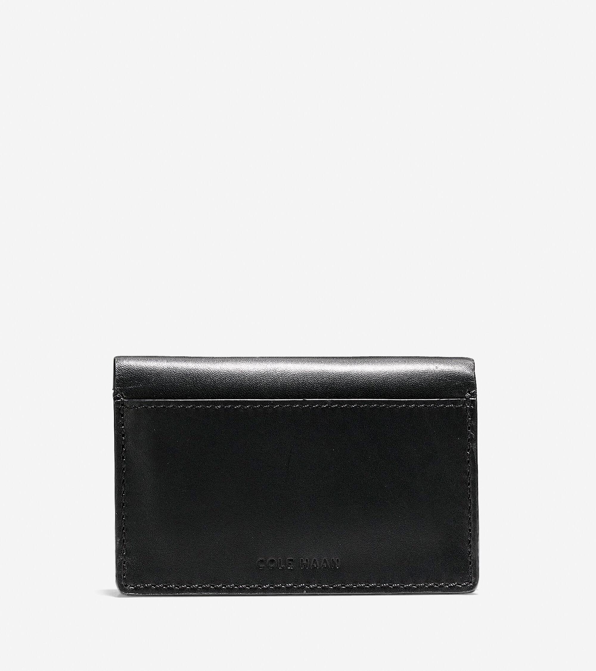 men s washington grand business card case in black