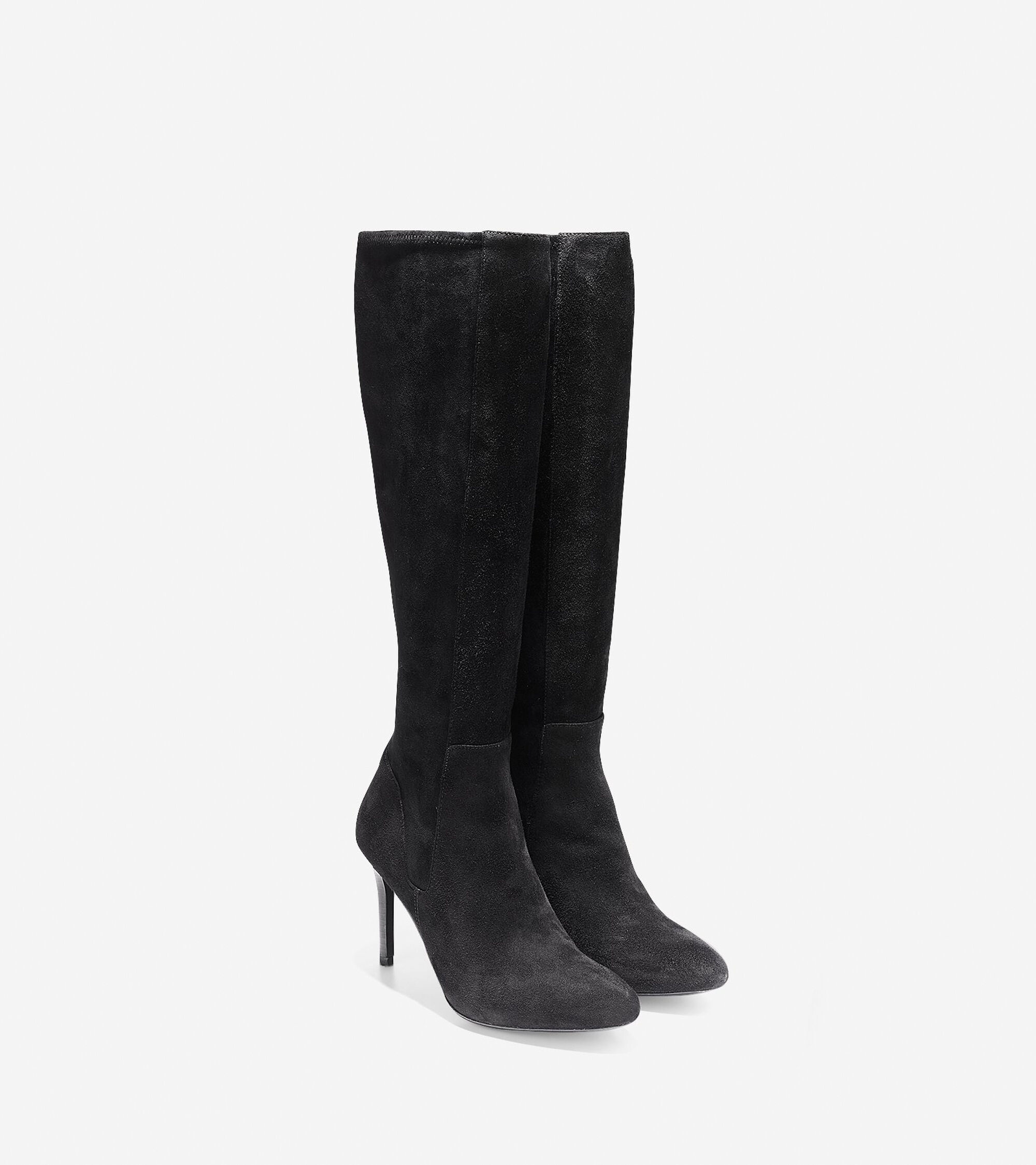 Women\'s Narelle Tall Boots (85mm) in Black Suede | Cole Haan