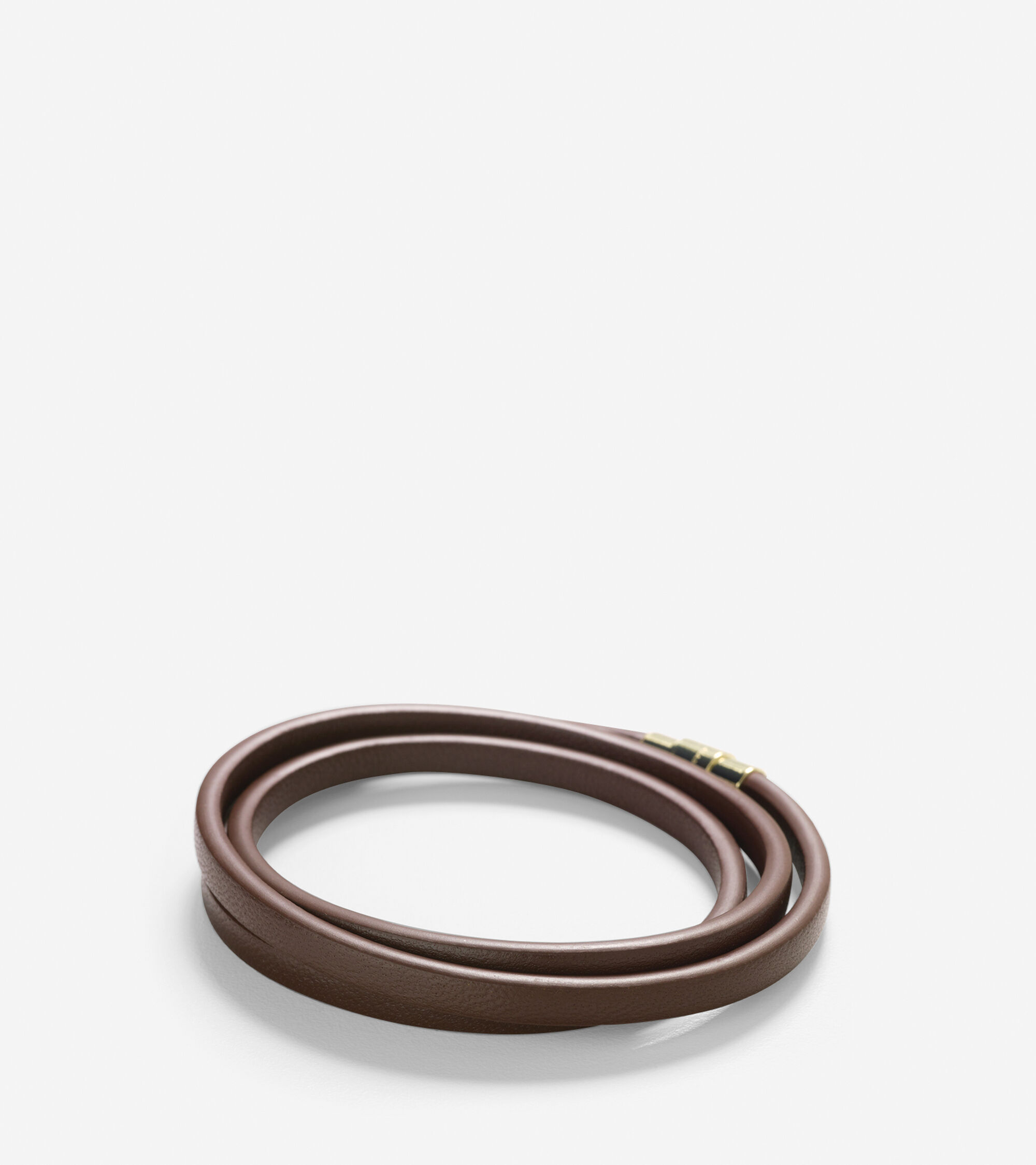 Accessories > Thin Leather Strap Bracelet With Magnet Closure
