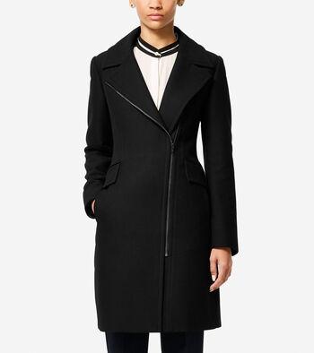 Italian Double-Faced Wool Asymmetric Jacket