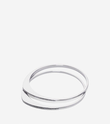Waters Edge Swarovski Organic Pave Bangle Set