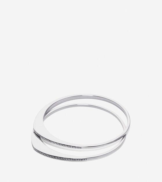 Jewelry > Waters Edge Swarovski Organic Pave Bangle Set