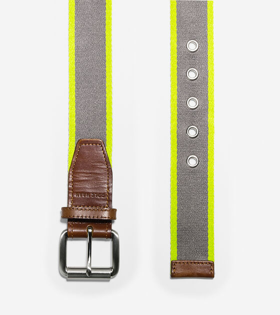 38mm Webbing Leather Belt