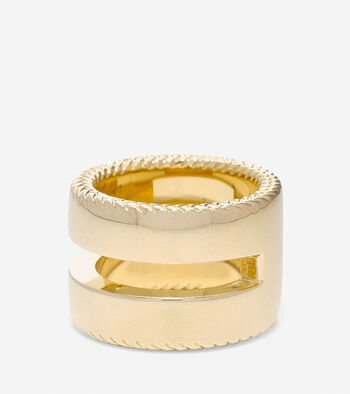 Signature Cut Out Basket Weave Ring