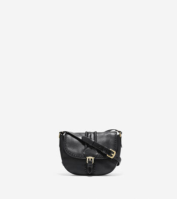 Loralie Whipstitched Mini Saddle Bag