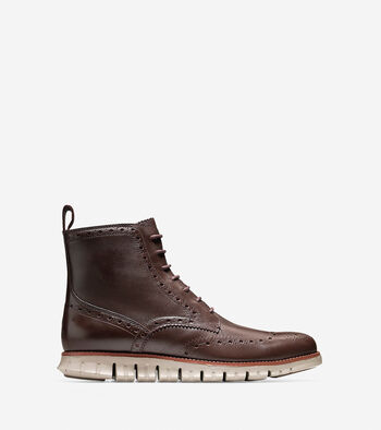 Men's ZERØGRAND Water Resistant Wingtip Boot