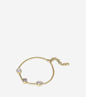 Starry Skies Three-Stone Cubic Zirconia Line Bracelet