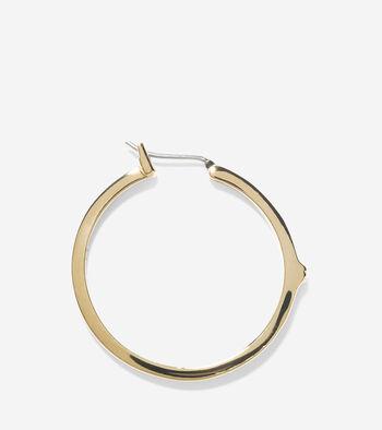 Signature Peaked Basket Weave Hoop Earrings
