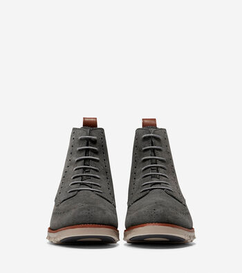 ZERØGRAND Water Resistant Wingtip Boot
