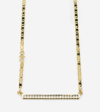 Shimmer On The Horizon Swarovski Crystal Bar Necklace