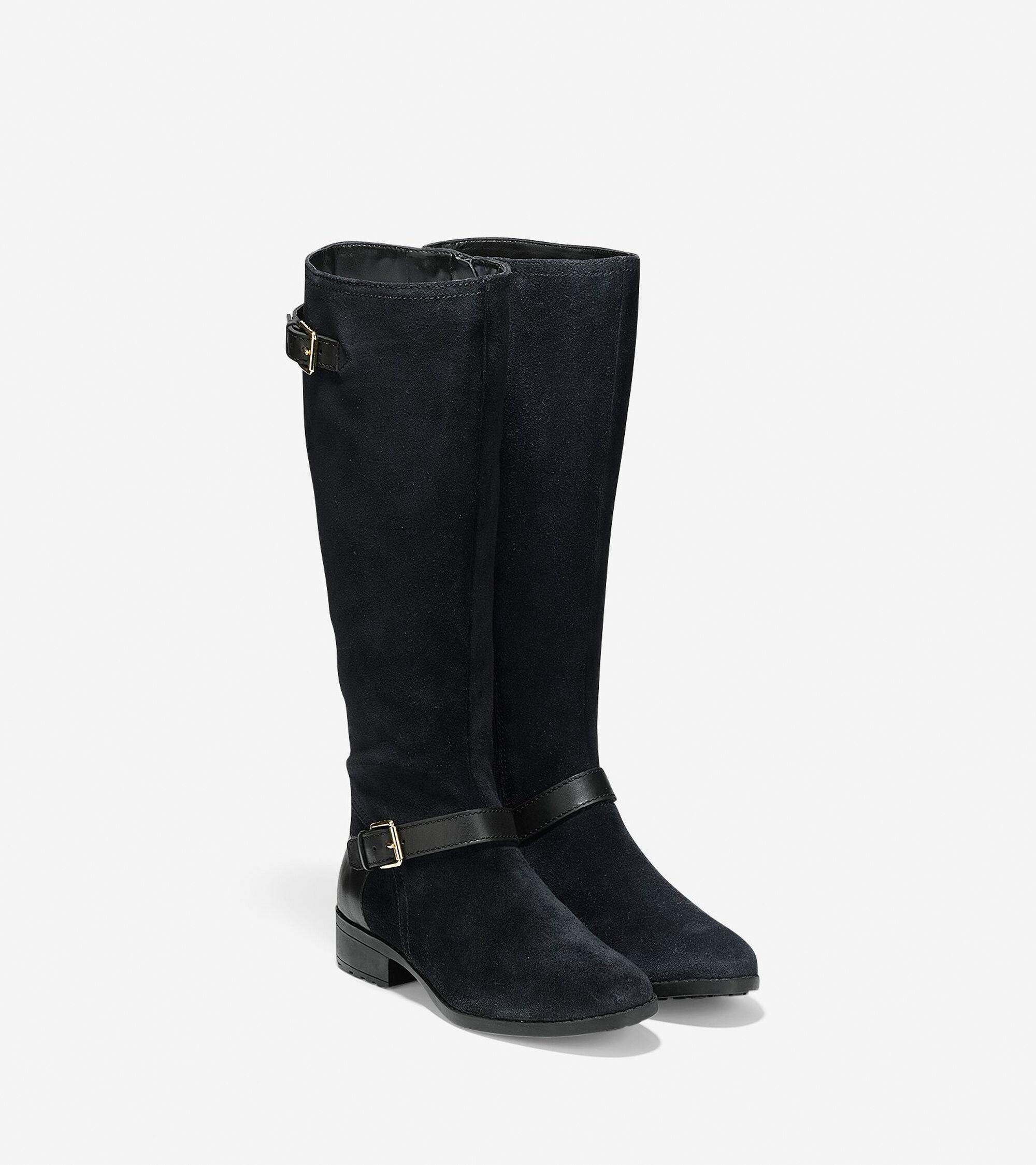Marla Waterproof Tall Boots 30mm in Black | Cole Haan