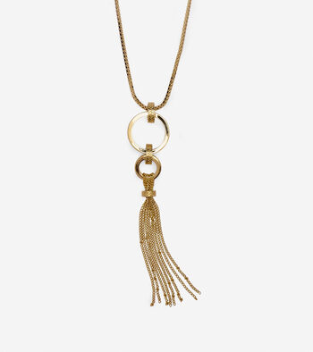 Put A Ring On It Tassel Pendant Necklace