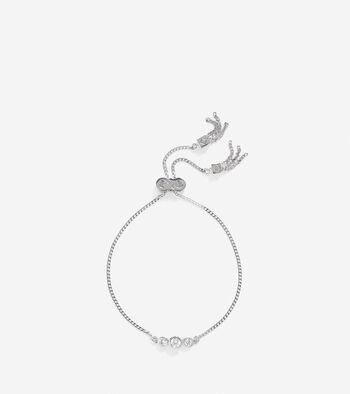 CZ Pull-Tie Bracelet